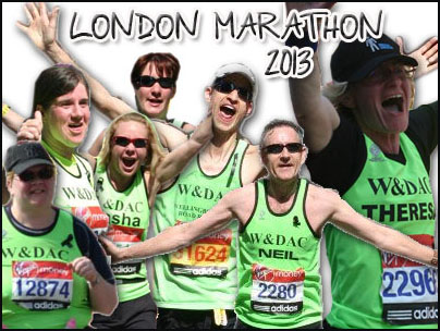 London marathon graphic