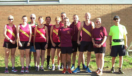 Northampton Road Runners at the BBQ run